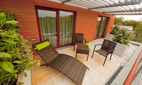 Abacus Business & Wellness Hotel - Herceghalom - Apartman terasz