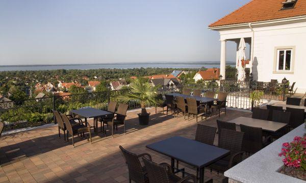Zenit Hotel Balaton - Vonyarcvashegy - Étterem terasz panoráma